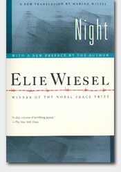 a review of elie wiesels famous holocaust novel night Full title night author elie wiesel type of work literary memoir genre world war ii and holocaust autobiography language wiesel first wrote an 800-page text in yiddish titled un di velt hot geshvign (and the world remained silent) the work later evolved into the much-shorter french publication la nuit, which was.
